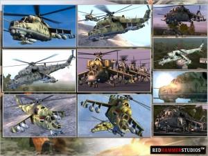 Пак вертолётов Ми-24 от RHS